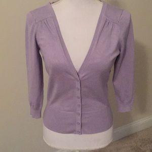 White House Black Market lavender cardigan